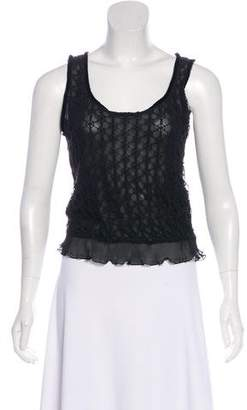 Giorgio Armani Crocheted Sleeveless Top