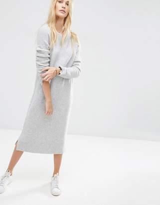 ASOS Midi Sweater Dress in Wool Mix Yarn $64 thestylecure.com