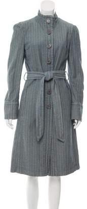 Marc Jacobs Herringbone Denim Coat