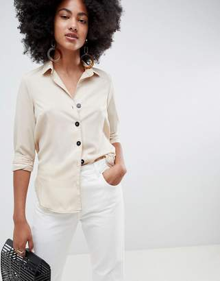 New Look Contrast Stitch Shirt