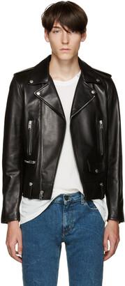 Saint Laurent Black Leather Biker Jacket $4,990 thestylecure.com