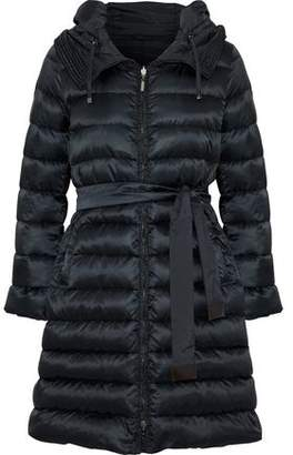 Max Mara Novep Reversible Quilted Shell Down Hooded Coat