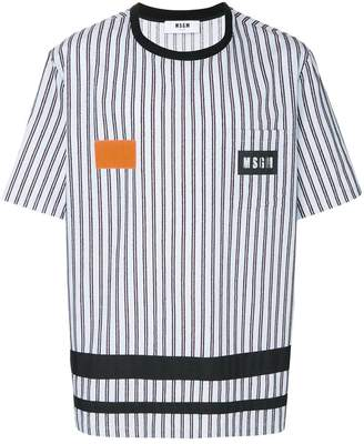 MSGM striped logo T-shirt