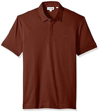 Lacoste Men's Short Sleeve Solid Stretch Pique Regular Fit Paris Polo