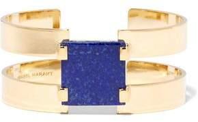 Gold-Plated Lapis Lazuli Cuff