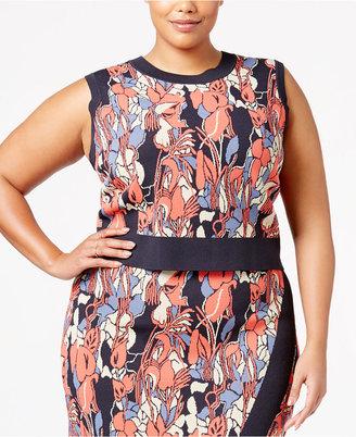 RACHEL Rachel Roy Trendy Plus Size Sleeveless Cropped Sweater $79 thestylecure.com