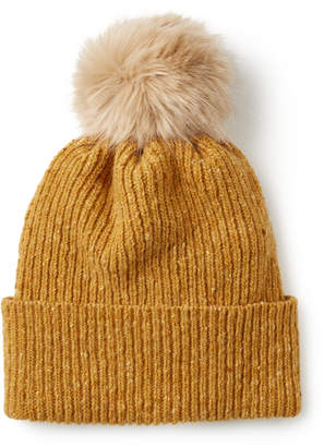 Jigsaw Donegal Faux Fur Pom Hat
