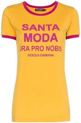 Dolce & Gabbana Santa Moda print cotton t shirt