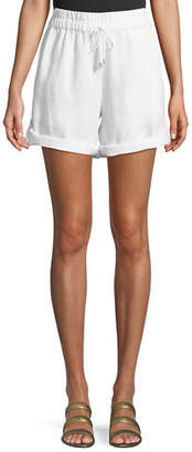 Eileen Fisher Linen Roll-Tab Shorts