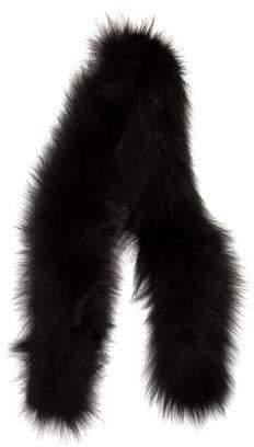 Fox Fur Skinny Scarf