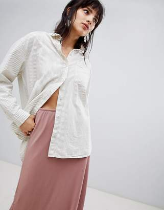 Selected Oversized Pinstripe Shirt