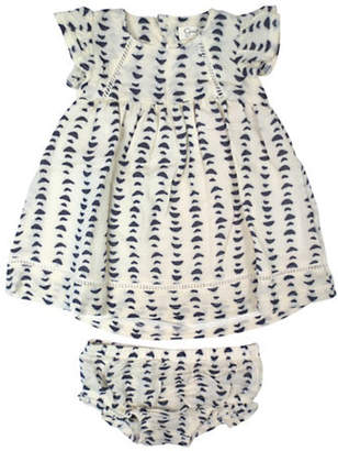 Jessica Simpson Two-Piece Printed Dress and Diaper Cover Set