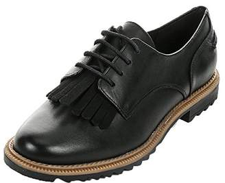 6de05d599aae9a Clarks Women s Lace-Up Derby Man-Tailored Shoes Griffin Mabel Leather