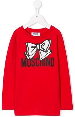 Moschino Kids bow logo T-shirt