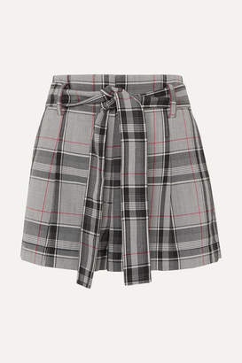 3.1 Phillip Lim Checked Twill Shorts - Light gray