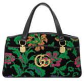 bc0d5a10 Gucci Medium Arli Floral Chenille Jacquard Top Handle Bag