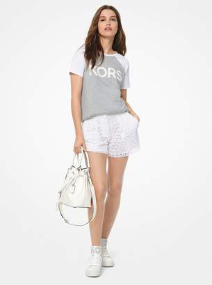 MICHAEL Michael Kors Logo Cotton-Jersey Baseball T-Shirt