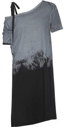 Ann Demeulemeester Cutout Dégradé Stretch-Cotton Jersey Mini Dress