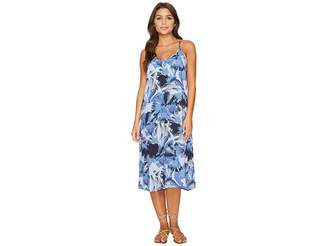 RVCA Chasing Shadows Floral Midi Dress Women's Dress