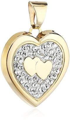 Crystelle 340340166 'Heart' Locket with White Swarovski Crystals 18 mm