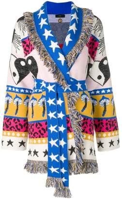 Alanui belted patchwork cardigan