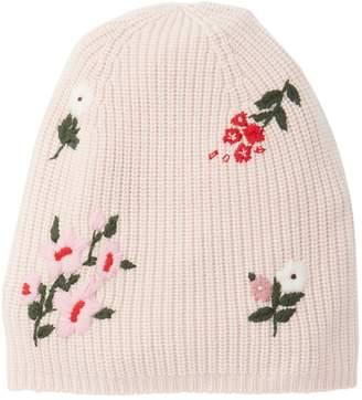 Kate Spade In Bloom Merino Wool Knit Beanie