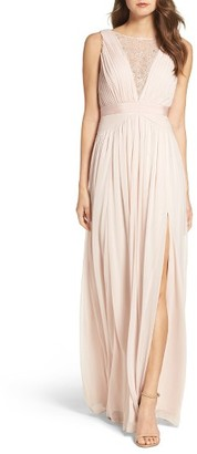 Women's Adrianna Papell Tulle & Lace Gown $179 thestylecure.com