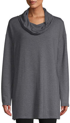 ST. JOHN'S BAY SJB ACTIVE Active Long Sleeve Cowl Neck Tunic - Tall