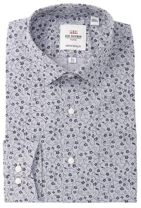 Ben Sherman Floral Printed Slim Fit Dress Shirt