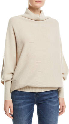 Agnona Turtleneck Batwing-Sleeves Cashmere Sweater