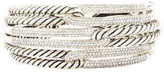 David Yurman Diamond Labyrinth Triple-Loop Cuff