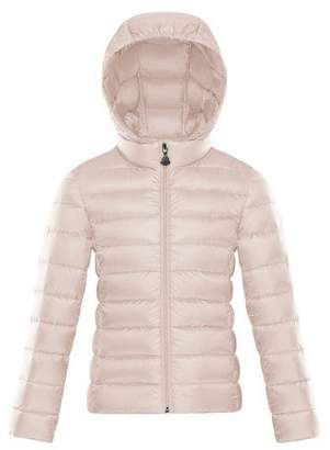 Moncler Hooded Zip-Front Coat, Size 8-14