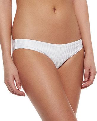 Vitamin A Paloma Textured Hipster Swim Bottom, White $92 thestylecure.com