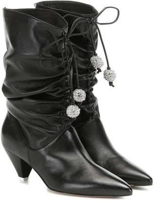 ATTICO The Crystal-embellished leather boots