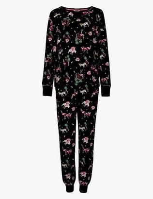 Marks and Spencer Cotton Rich Safari Print Pyjama Set