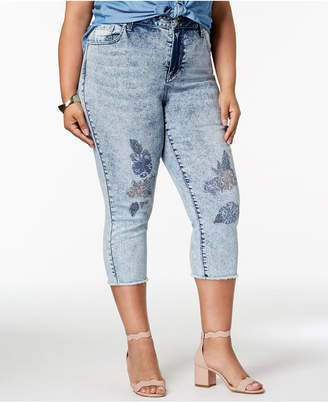 Seven7 Trendy Plus Size Embroidered Jeans