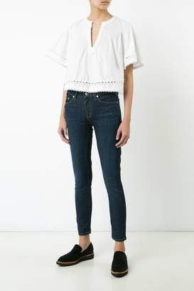 Derek Lam 10 Crosby Pintuck Top