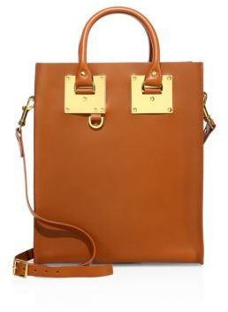 Sophie Hulme Mini Structured Leather Tote $850 thestylecure.com