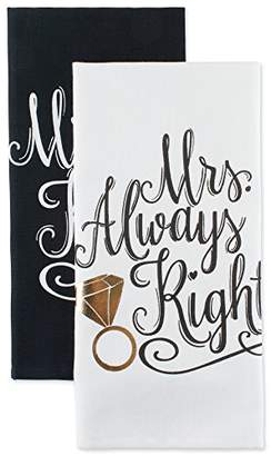 DII Cotton Mrs. Dish Towels (Set of 2) Perfect Wedding