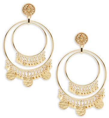 Kate SpadeKate Spade New York Flip a Coin Fringed Hoop Earrings