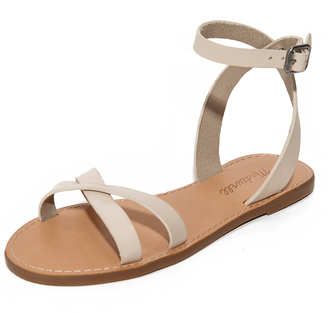 Madewell Ankle Wrap Crisscross Sandals $59.50 thestylecure.com