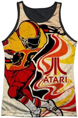 Atari Football Game Arcade Tri-Color Design Adult Black Back Tank Top Shirt