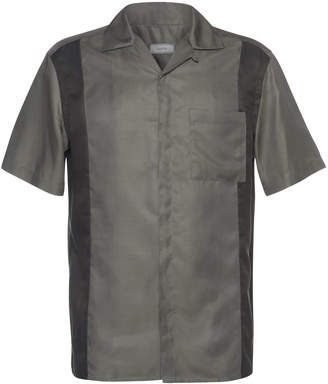 Lanvin Two-Tone Bowling Shirt