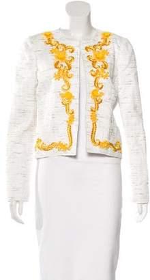 Oscar de la Renta 2016 Embellished Tweed Jacket
