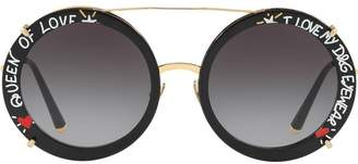 Dolce & Gabbana Eyewear Queen of Love round sunglasses