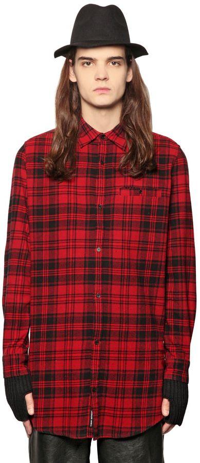Cheap Monday Plaid Cotton Blend Flannel Shirt Shopstyle Men