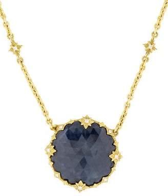 Judith Ripka 18K Sapphire & Diamond Pendant Necklace
