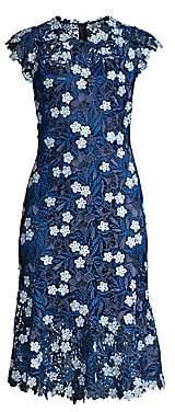 Elie Tahari Women's Florance Floral Lace Sheath Dress