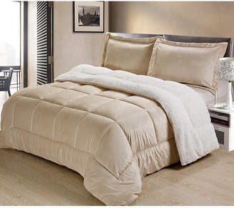 Cathay Home Inc. Ultimate Luxury Reversible Micromink and Sherpa Queen Bedding Comforter Set Bedding
