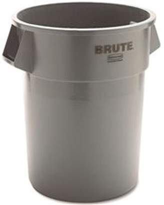 Rubbermaid Commercial Products Brute Heavy-Duty Round Trash Can Without Lid, Gray, 55 Gallons
